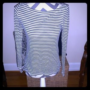 Loft Long Sleeve Striped Shirt